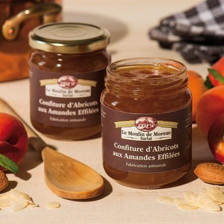 Confiture extra d'Abricots aux Amandes effilées 250g