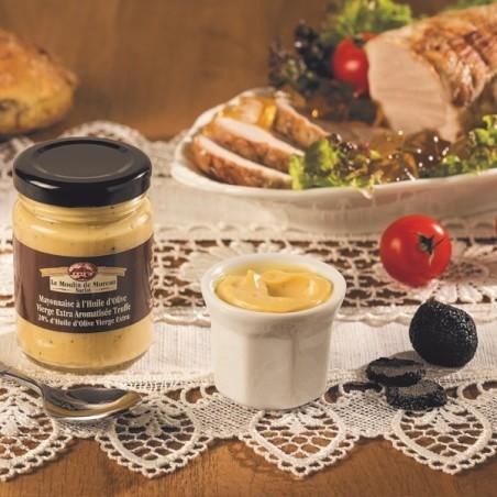 La Mayonnaise à l'huile d'olive vierge extra aromatisée à la Truffe (20% d'huile d'olive vierge extra) 115g