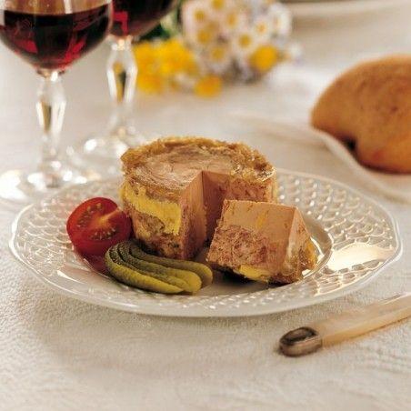 """Lot de 2 """"Papitous"""" : Pâté au Foie de Canard (30% Bloc de Foie Gras) 130g"""