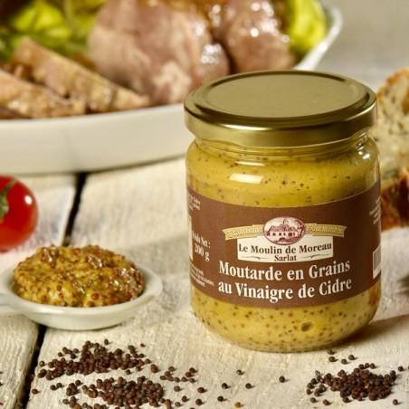 La Moutarde en Grains au Vinaigre de Cidre 200 g