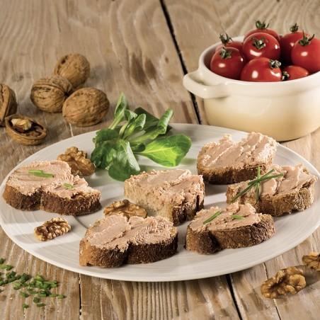 Lot de 2 Tartinades de Canard aux Noix du Périgord 1% (20% Foie Gras) 80g