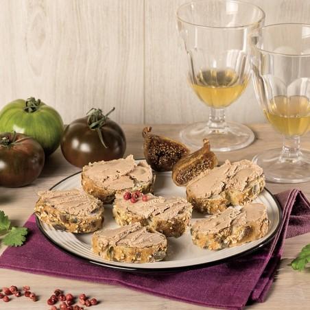 Le lot de 3 Tartinades de Foie de Canard aux Pépites de Figues (20% Foie Gras) 80g