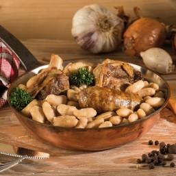 Le lot de 2 Le Cassoulets de Castelnaudary au Manchon d'Oie Confit 420 g