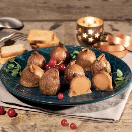 Les figues fourrées au Foie Gras de Canard (8 pièces)