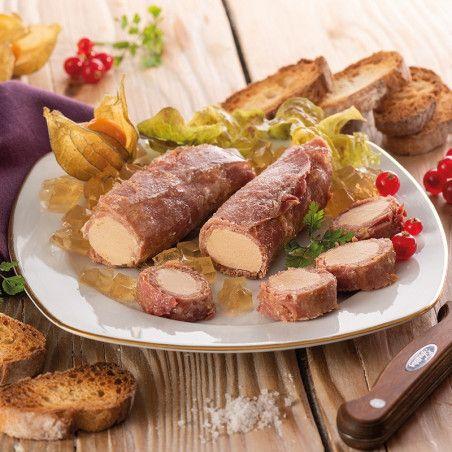 Flûteaux de Jambon au Foie de Canard (30% Foie Gras) en gelée 200g