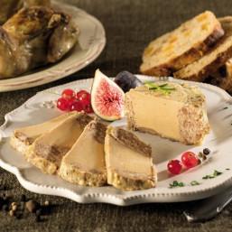 Le lot de 4 Terrines de Caille au Foie de Canard (20% Foie Gras) 125g